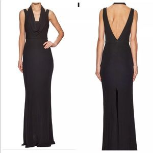 ABS Cutout Jersey Cold-Shoulder Gown XS Dress